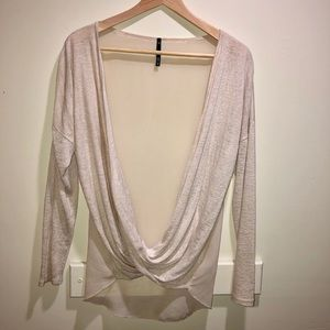 Sheer Back front wrap Top